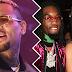 Chris Brown provoca Offset e diz que mandará flores para Cardi B