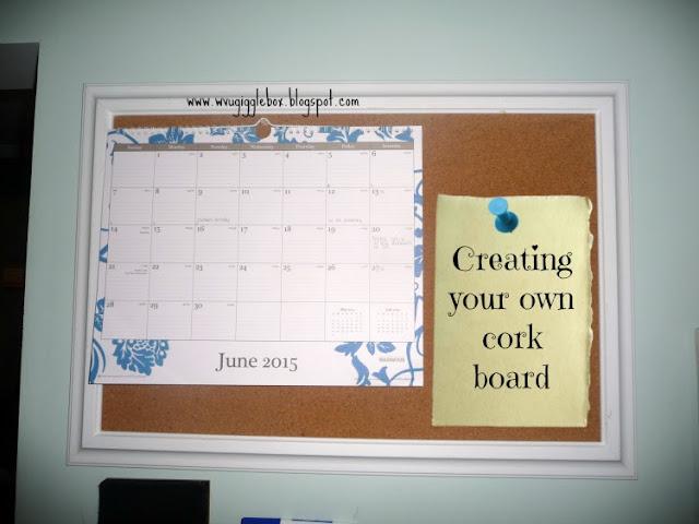 DIY cork board, kitchen command center,