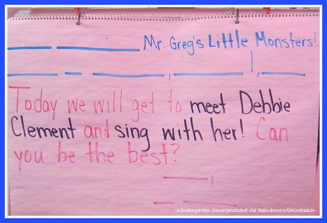 photo of: Morning Message in Kindergarten via RainbowsWithinReach
