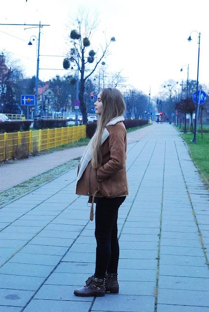 brązowe buty na zimę