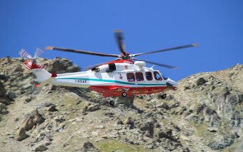 Wallpaper: Helicopter of the Alpine Rescue Team
