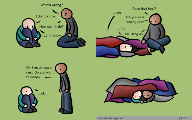 comforting depression comic