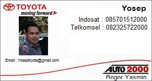 Layanan Pemesanan Kendaraan Mobil Toyota