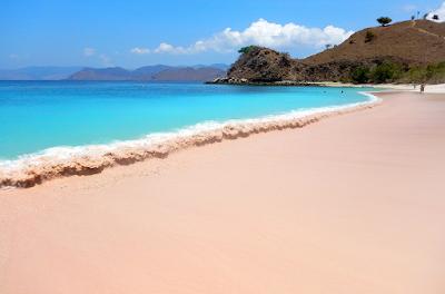 Indonesia Pink Beach Location