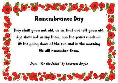 Remembrance Day 2016 Poems