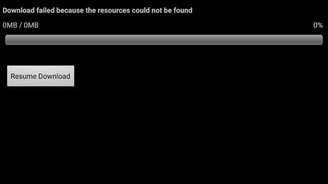 cara mengatasi download failed because resources could not be found