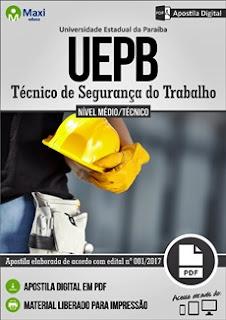 Apostila Concurso UEPB 2017 Técnico de Segurança do Trabalho