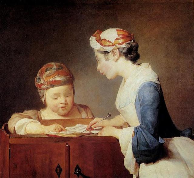 Jean Baptiste Siméon Chardin Молодая учительница
