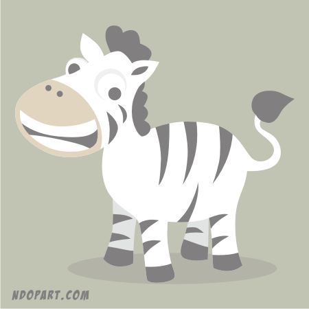 Download Vector: Cute Horse Cartoon