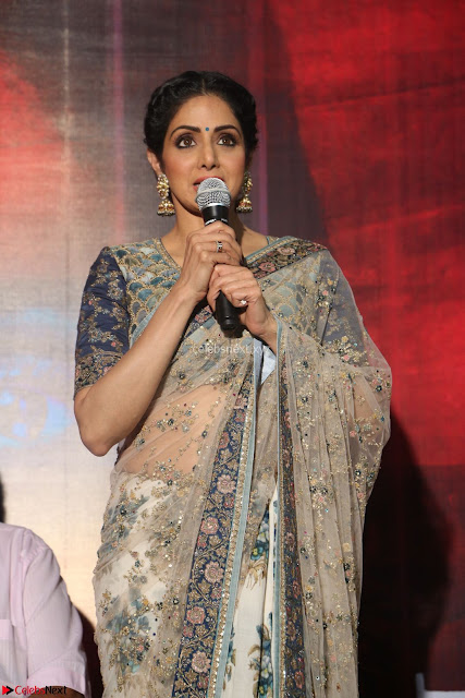 Sri Devi in designer saree stunning beauty at the launch of MOM movie Trailer~  Exclusive 005.JPG