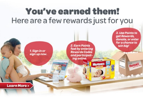 Huggies Rewards Earn Points + Free Samples