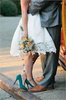 Zapatos de novia de colores