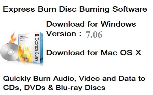 تحميل برنامج إكسبريس بيرن Express Burn 7.06 لحرق ونسخ الأسطوانات للويندوزمجانا