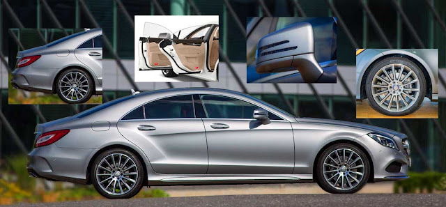 Phần hông Mercedes CLS 400 2018 thiết kế khí động học với rất nhiều điểm nhấn