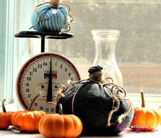 How to upcycle old sweaters and shirts into Fall pumpkin decor.