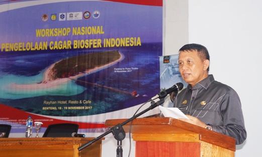 Workshop Nasional Pengelolaan Cagar Biosfer Indonesia, Ini Sambutan, Bupati Kep. Selayar