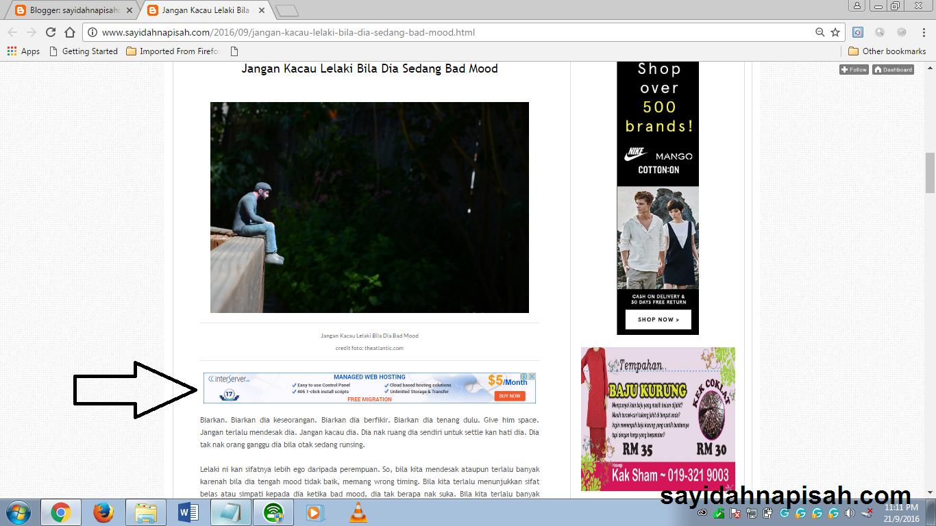 Cara Memasang Iklan Adsense Di Tengah Artikel Blog
