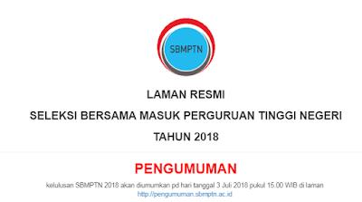 Cara Melihat Nilai SBMPTN 2018 Bergini Caranya