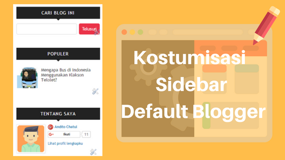 Kostumisasi Sidebar Default Blogger