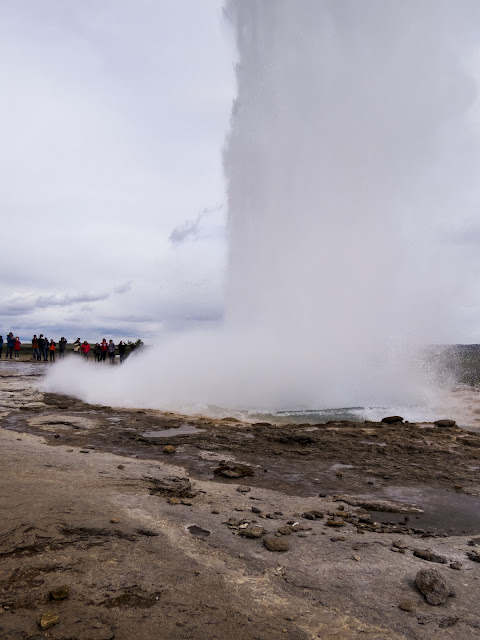 Self-drive around Iceland's Golden Circle: Geysir erupting