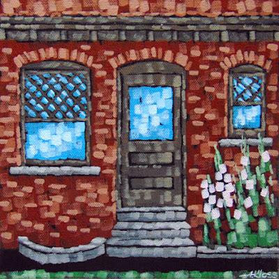 glensheen memories painting by artist aaron kloss, painting of glensheen building, plein aire painting, aaron kloss painting, paint du nord painting