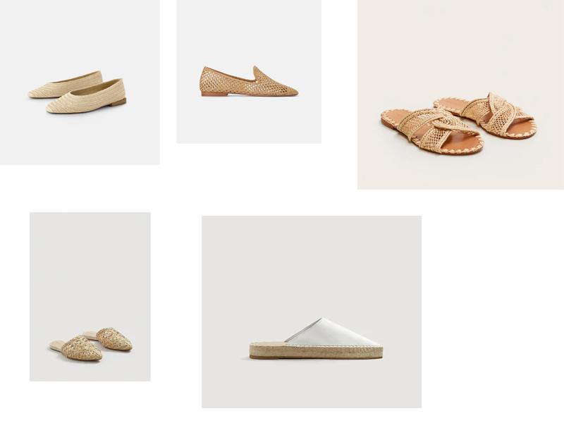 buty plecione z rafii baleriny sandały blog klapki