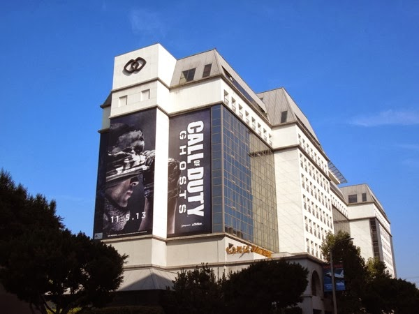 Giant Call of Duty Ghosts game billboard