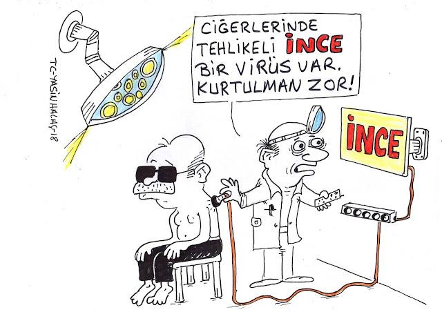 ince virüsü karikatür