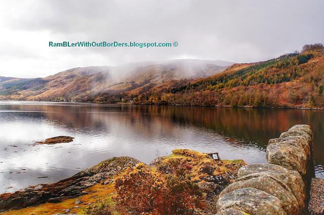 View of Loch from Eilean Donan Castle, Scotland, UK