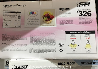 Costco 1027008 - Feit BR40 Flood 75w Replacement LED Bulbs - More efficient and cost-effective compared to incandescent