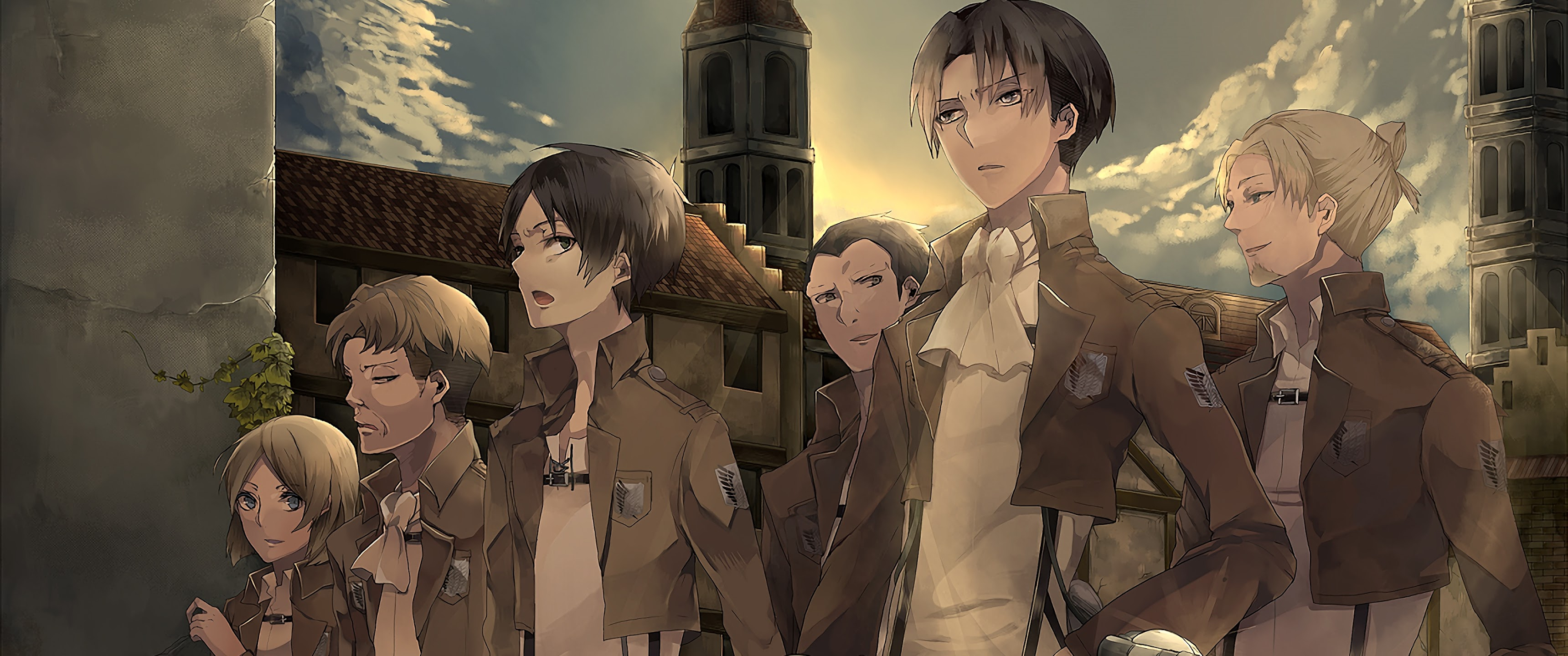 Levi Eren Survey Corps Attack On Titan 4k Wallpaper 18