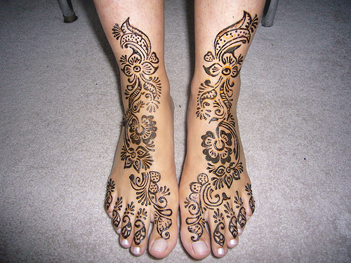Corner Tattoos Foot Henna Mehndi Tattoo Designs