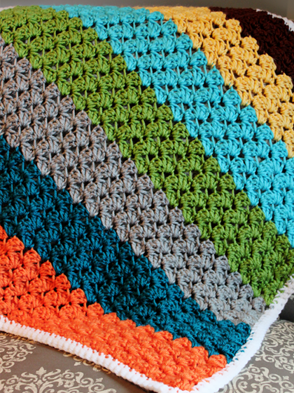 Crochet Blanket using the Blanket Stitch
