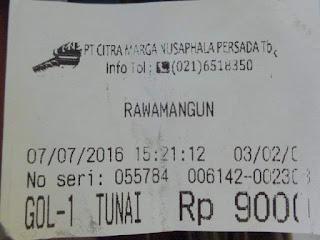 karcis tol Rawamangun