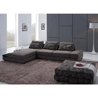 Sofa and Ottoman Sectional By TOSH Furniture