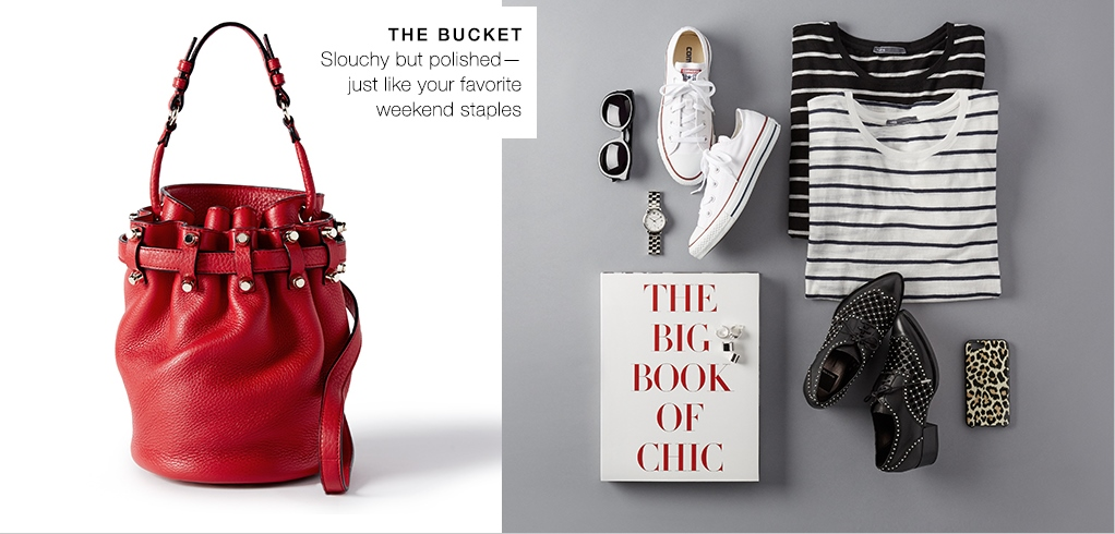 The bucket bag, slouchy but polished