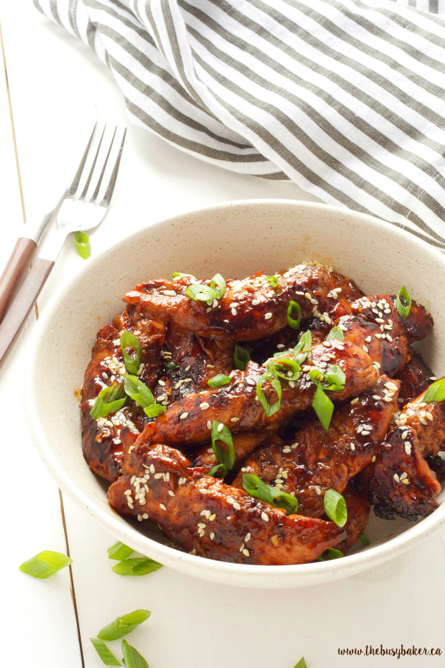 Easy Sticky Asian Chicken | A super easy chinese take-out dish you can make at home! www.thebusybaker.ca