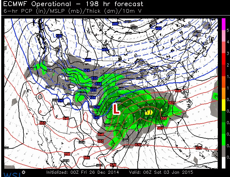 From The Arkansas Weather Blog December - Euro weather map us