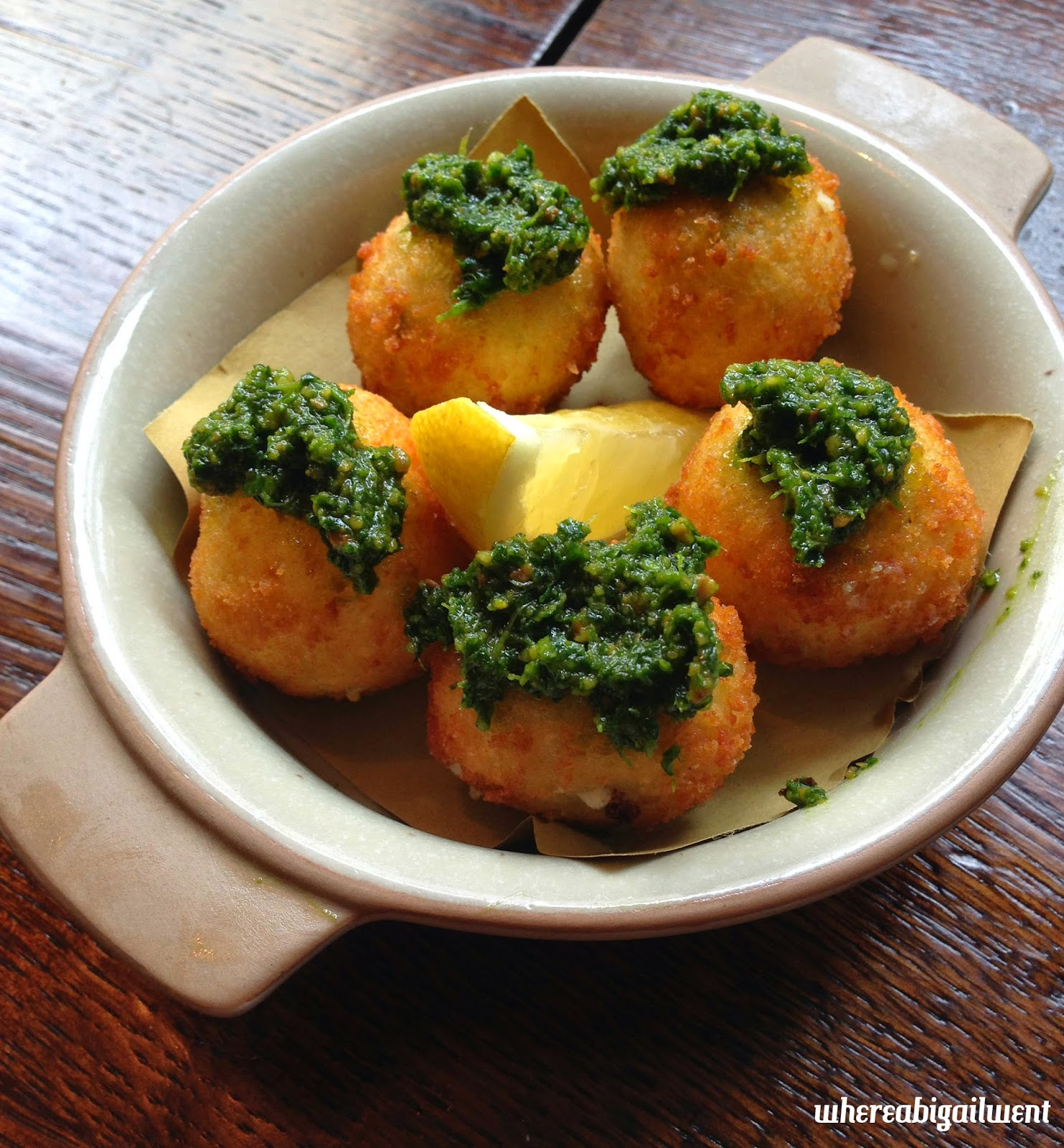 Ember Yard Croquettes with Basil Pesto