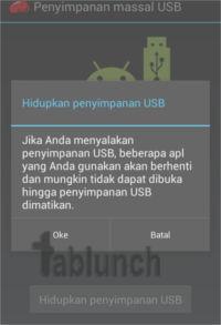 Mengaktifkan penyimpanan USB