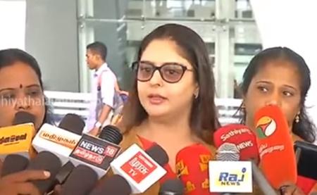 Actress turned Politican Nagma Press Meet At Chennai Airport