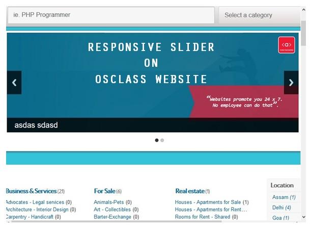 How to add a responsive slider on OSCLASS website (using contributed OSCLASS Slider plugin)?