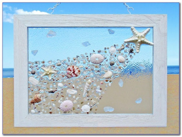 How To Make Sea GLASS WINDOW Art