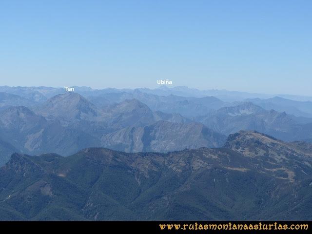 Ruta a la Torre del Friero: Vista de Peña Ten y Ubiña