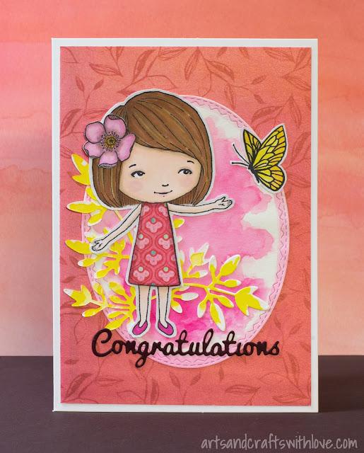 Cardmaking: Cute girly birthday card