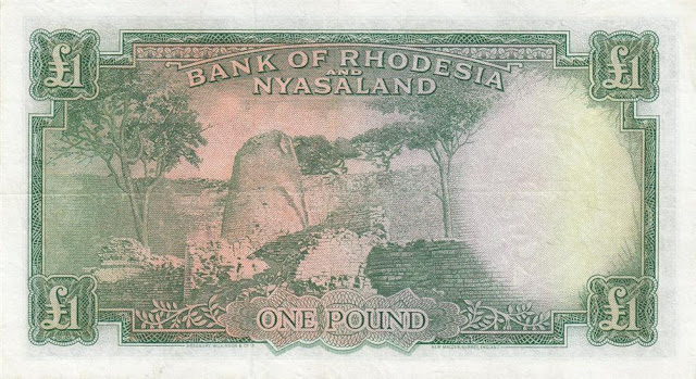 Rhodesia and Nyasaland Pound note banknotes currency images
