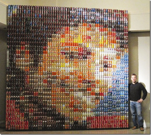 Michael Jackson soda can portrait by Seaton Brown