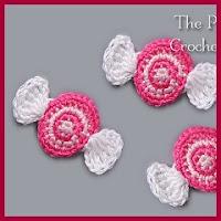 Aplique caramelo a crochet