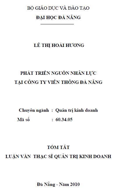 Phát triển nguồn nhân lực tại công ty viễn thông Đà Nẵng