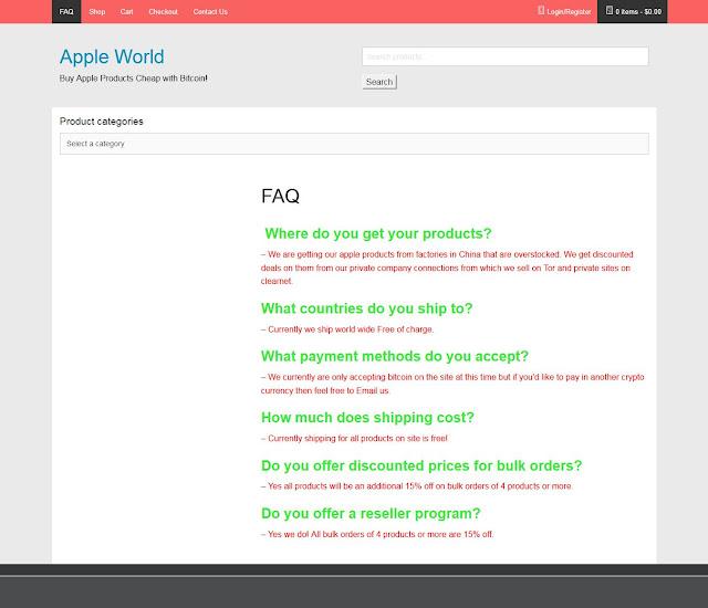 halaman faq apple world